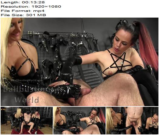 Ballbusting World PPV – Ballbusting: Pure Squeezing BB1399 -  Nikki and Tiffany  - Double Domination, Ball Abuse