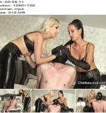 Chateau-Cuir – Double smother in leather pants part 1 -  Fetish Liza  - Blond Hair, Trousers