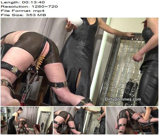 DirtyDommes - Heavy ball abuse - Fetish Liza, Maya Liyer - CBT - Femdom, Double Domination