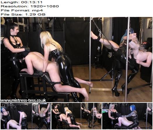 Mistress Tess UK Clip Store – Triple Dick Rotation -  Mistress Tess, Mistress Bliss and Mistress Karina  - Oral Servitude, Female Domination