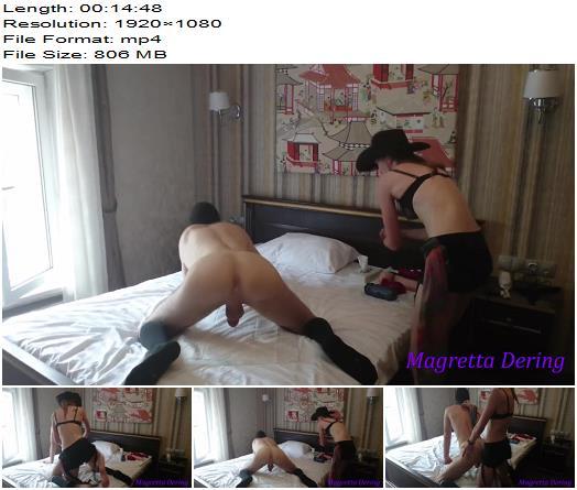 Magretta Dering aka Real Daddys Angel - Cowgirl Domina Anal Fucks Hot Male Slut - Pegging - Anal Fucking, Ass Fucking