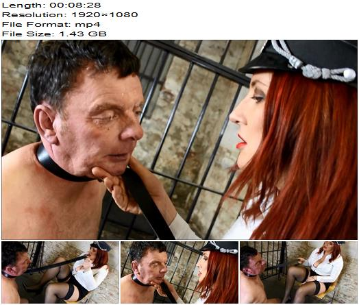 Cruel Goddess - Bound, Slapped, Spat On And Made To Lick Her Shoes (1080 HD) - Shoe Worship - Nylons, Shoeslicking