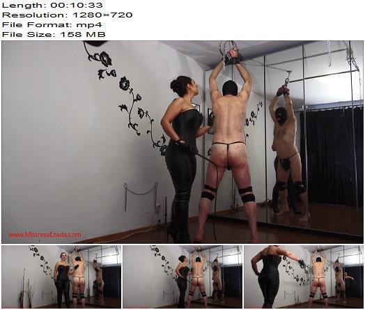 Ezada - Mistress Ezada training Her slave to take pain for Her pleasure - Whipping - Female Domination, Mistress Ezada Sinn