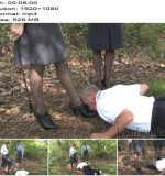 Femme Fatale Films - Miss Woods and Mistress Eleise de Lacy - Falling Behind - Complete Film - Caning - Outdoors, Canes