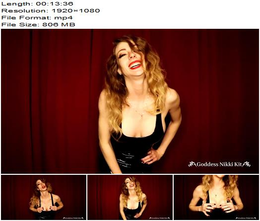 Goddess Nikki Kit - Steamy CEI From a Mistress in a PVC Dress - Jerkoff Command, Jerkoff Commands