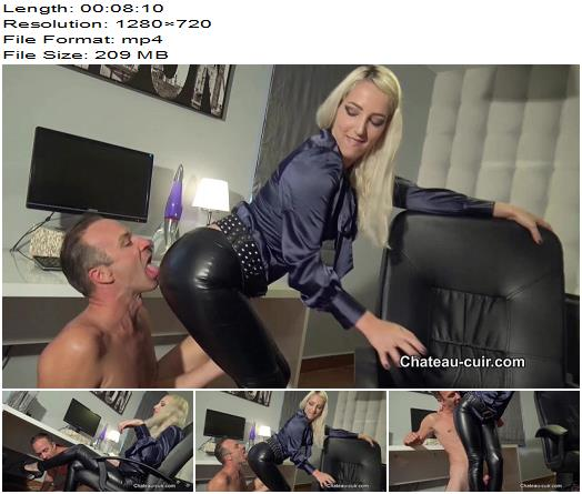 Chateau-Cuir - Leather leggings fuck in the office part 1 - Liz Rainbow - Trousers, Boy/Girl