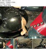 DirtyTransDolls - Pegged and milked latex slave - Fetish Liza - Pegging - Handjob, Gloves