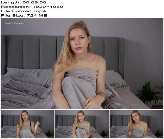 Goddess Allexandra - Cucky Clean Up - Humiliation - Teasing, Male Cum Swallowing