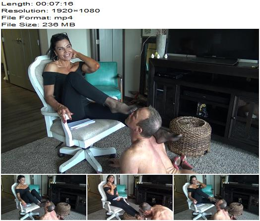 Goddess Zephy - Nylon Foot Sniffer! (1080 HD) - Foot Fetish - Foot Smelling, Loser