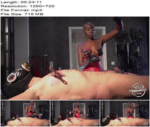 KinkyMistresses - Hot Wax Fun With Zaawaadi - Interracial - Femdom, Interracial Domination