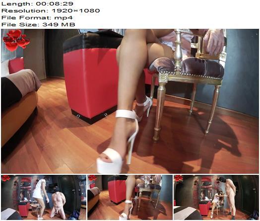 Miss Black Sun - Cruel Valentine Ballbusting - FULL HD - CBT - High Heels, Foot Fetish