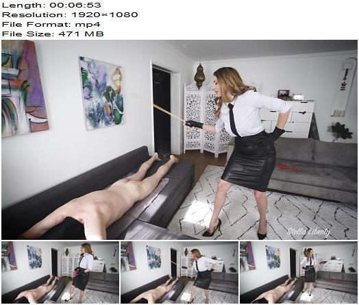 Stella Liberty - Headmaster Caned and Paddled by Headmistress - Female Domination - Corporal Punishment, Canning