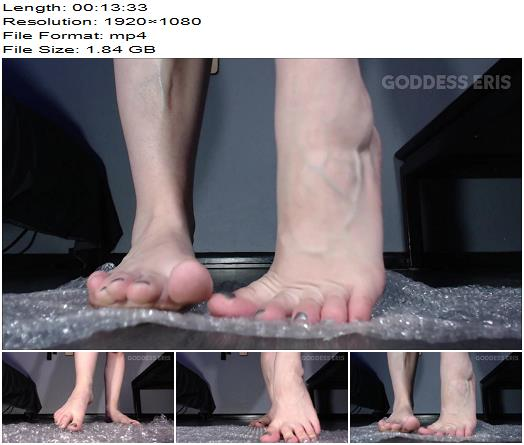 TheGoddessEris - Long Toes Popping Bubble Wrap - Fetish - POV, Painted Toes