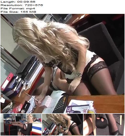 KELLY KALASHNIK MP4 VIDEOS – THE SECRETARY & HER HUMAN FURNITURE  - Human Footstool, Female Domination