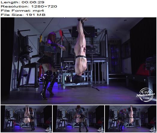 KinkyMistresses - Suspended And Punished - Mistress Kiana - Femdom Spanking - Interracial, Ebony