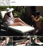 Young Goddess Kim - Goddess Kim Pool Service (1080 HD) - Shoe Worship - Outdoors, Shoeslicking