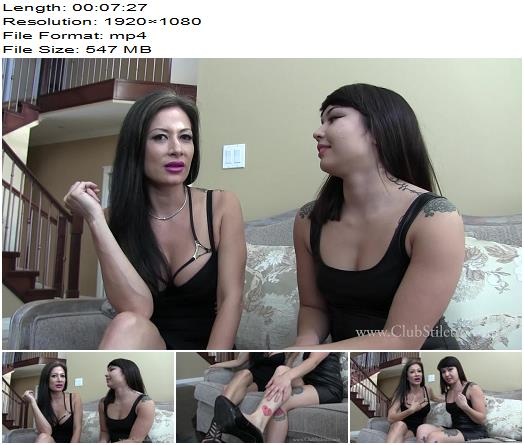 ClubStiletto - We want you, as Our Sissy Fluffer and Slut - Humiliation - Miss Jasmine, Double Domination