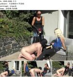 DirtyDommes - Outdoor strap-on bitch fucking part 1 - Fetish Liza, Liz Rainbow - Anus Fucking, Double Domination