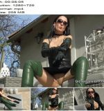 Glovemansion - Fitting extra long leather gloves - Instructions - Jerk-Off Commands, Fetish Liza