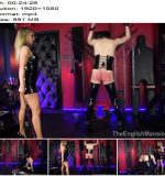 The English Mansion - Mistress Courtney - Caught For A Caning - Complete Movie - Canes, Female Domination