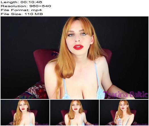 Tsarina Baltic - Gagged With Panties JOI - Huge Boobs, Big Breast
