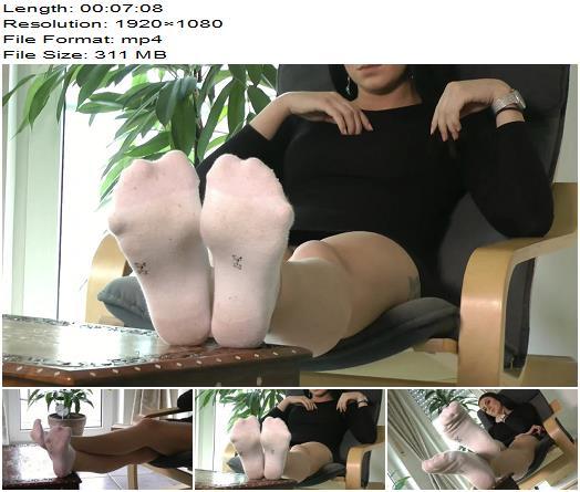 Ballerinas Flip Flops and more - Foot Lady White Socks - Footworship - Soles, Foot Worship