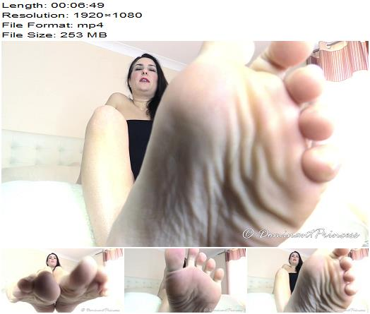 Dominant Princess - Smell My Stinky Feet - Footworship - Femdom, Foot Licking