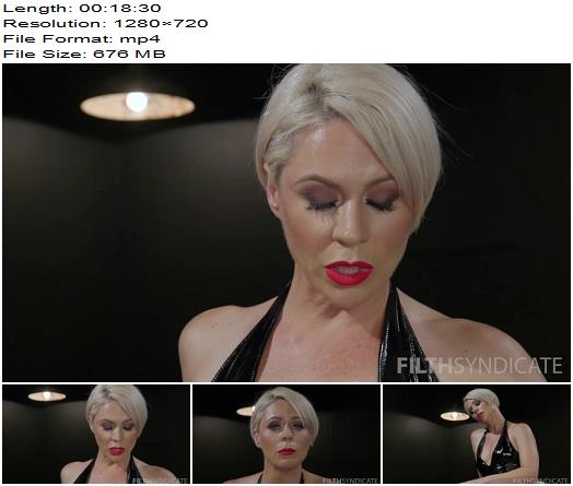 Filth Syndicate - KINKY JOI - Helena Torments You in Chastity - Natural Boobs, Masturbation Encouragement