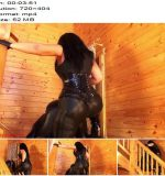 Mistress Ezada Sinn - Anal whore fucking with a big red strap-on - Pegging - Strapon, Domination