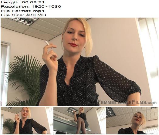 Femme Fatale Films - Mistress Eleise de Lacy - Cigarette Break - Complete Film - Smoking - Female Domination, Shoes