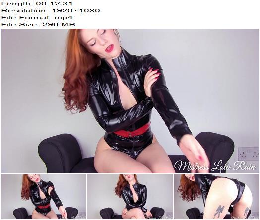 Mistress Lola Ruin - Stroke for my latex - Instructions - POV, Jerkoff Command