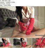 Glovemansion - Heavy duty pink rubber glovejob part 2 - Handjob - POV, Femdom