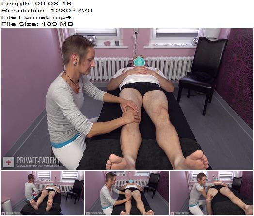 Private-Patient - Physical Therapy - Part 1 - Medical Femdom - Nurse Lilli Fuchs, Massage Couch