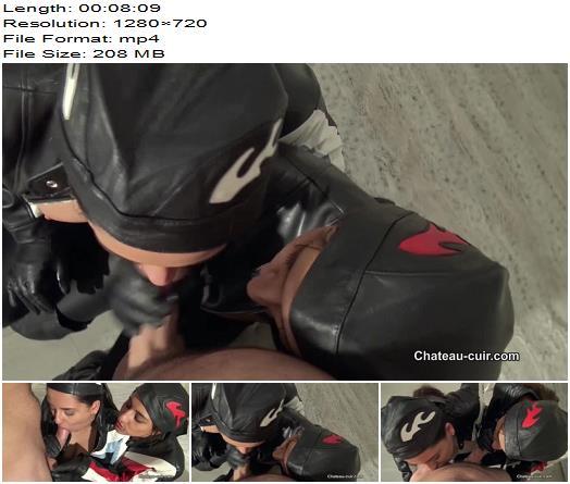 Chateau-Cuir - Cum loving biker girls part 1 - Blowjob - Boots, Girl/Girl