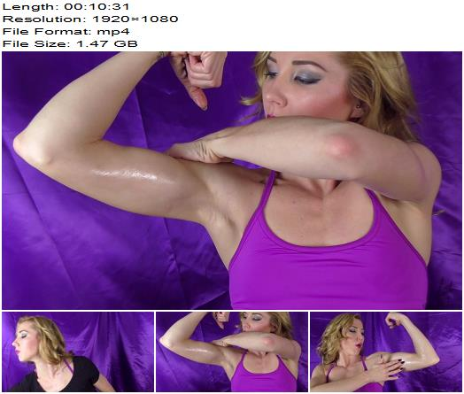 Janira Wolfe - Are You Looking At My Biceps? - Masturbation Instruction, Muscle Control