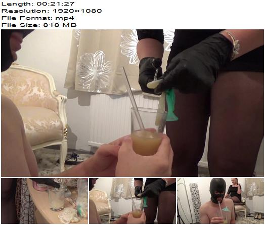 Lady Krasaviza - Slave's Cum Cocktail - Cum Eating - Key-Holding, Domination