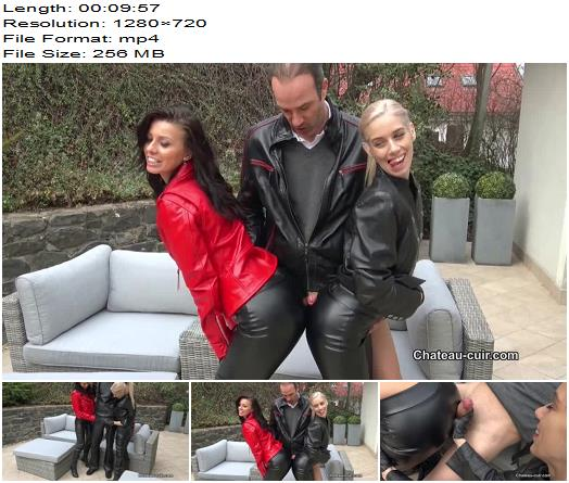 ChateauCuir  Leather leggings fuck and cumshot part 1  Female Domination preview