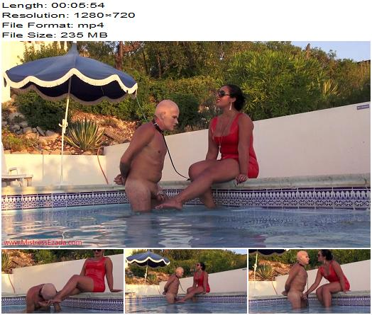 Mistress Ezada Sinn - Water Cooling The Hot Cock (720 HD) - Foot Worship - Foot Licking, Outdoors