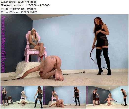 The Mean Girls  Goddess Platinum Mistress Dandi  Beaten for the HBIC 1080 HD  Whipping preview