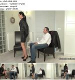 Chateau-Cuir - Leather fetish therapy session 1 part 1 - Fetish Liza - Jackets, Handjob