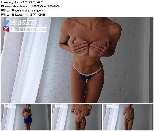 Mistress Alana - Pussy Free Loser Tease - Humiliation - Femdom, Cum Countdown