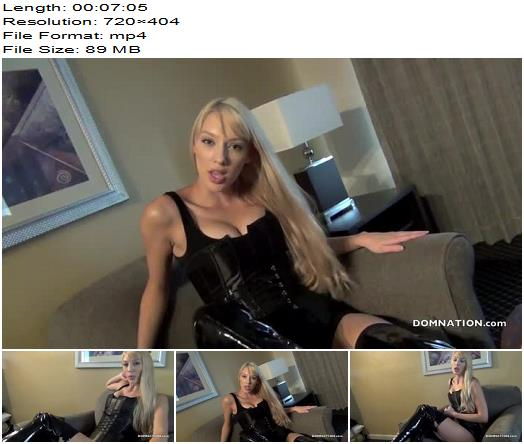 Princess Rene starring in video 'JOI FOR AN UNDESERVING BOOT SLAVE' of 'Domnation' studio  - Female Domination, Dirty Talk