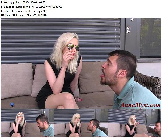 Anna Myst - Smoking Fetish - Human Ashtray - Femdom, Cigarette