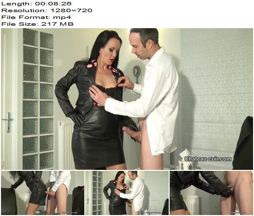ChateauCuir  Leather fetish therapy session 1 part 2  Fetish Liza  Handjob preview