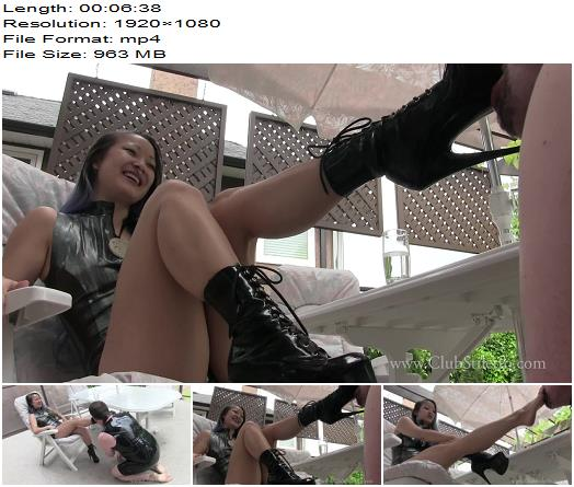 Club Stiletto  Worship My Boots and earn My Feet  Miss Xi  Foot Worship preview