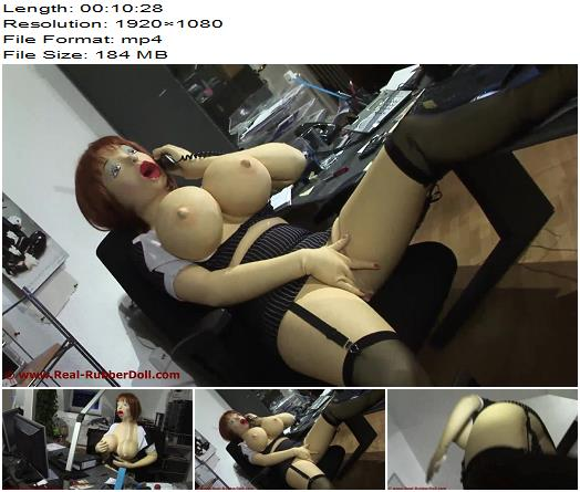 Dollrotic - living sex doll cleaning the house - Latex - Female Domination, Femdom