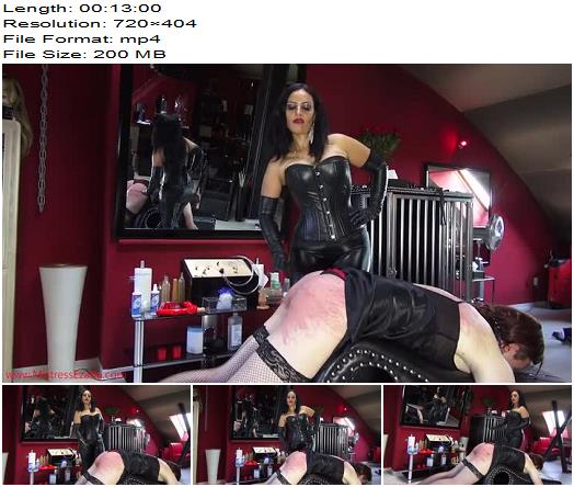 Ezada Sinn  100 canes for the sissy  Mistress Ezada training Her sissy slave to take caning for Her pleasure preview
