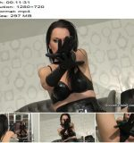 Fetish Liza starring in video 'Balls draining leather gloves JOI' of 'Glove Mansion' studio  - Instructions, Jerk-off Commands