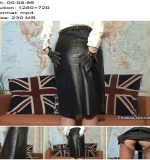 Fetish Liza starring in video 'Vintage leather skirt JOI' of 'Chateau-Cuir' studio  - Jerk-off Commands, Download