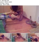 Katia and Michelle home video - The ignored foot slave licks my sweaty feet - Female Domination, Homemade